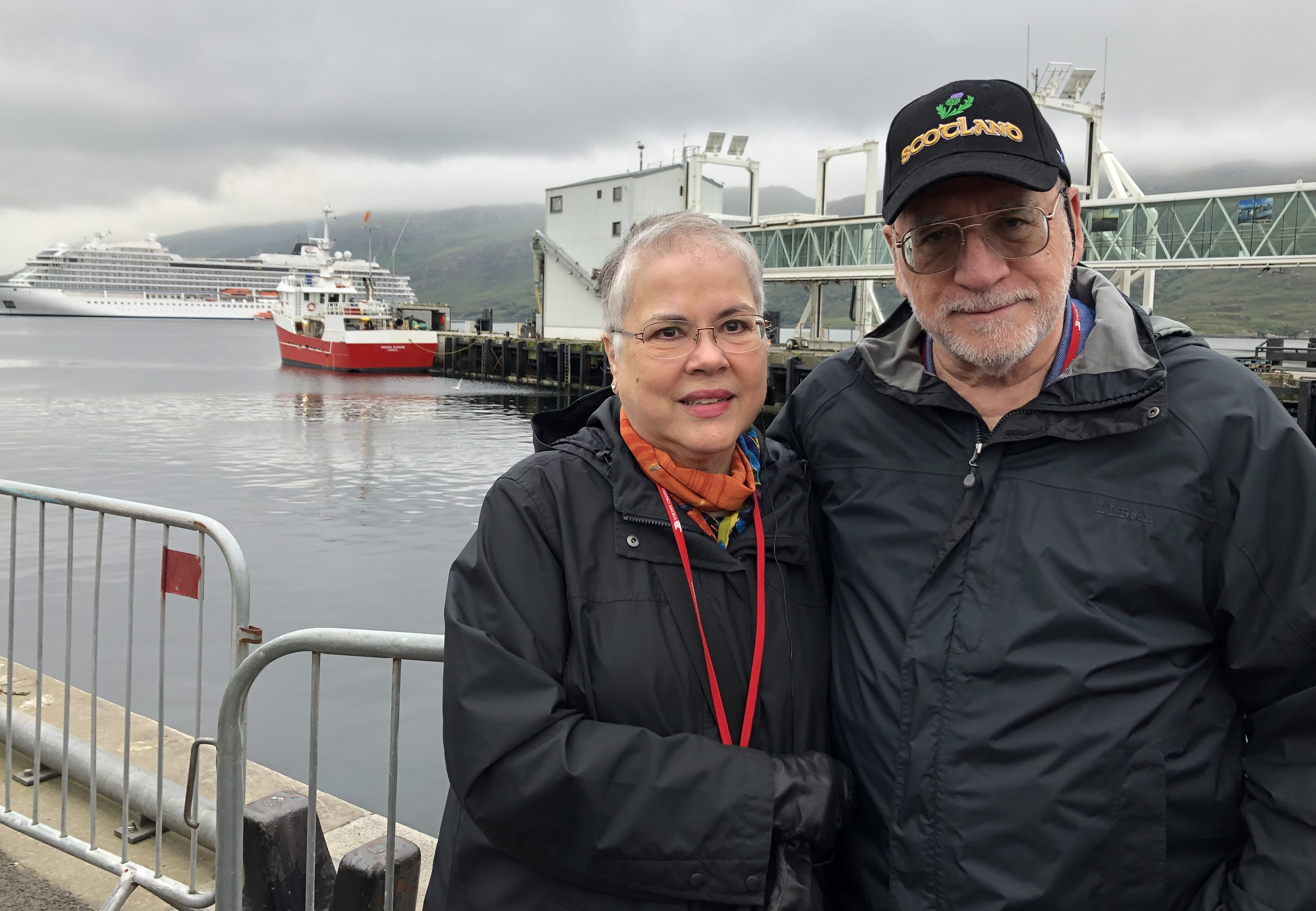 Ashby Ponds residents Gary and Ana McCollim are avid travelers. They are pictured on a vacation in Ullapool, Scotland.