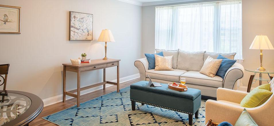 The Ellicott living room area