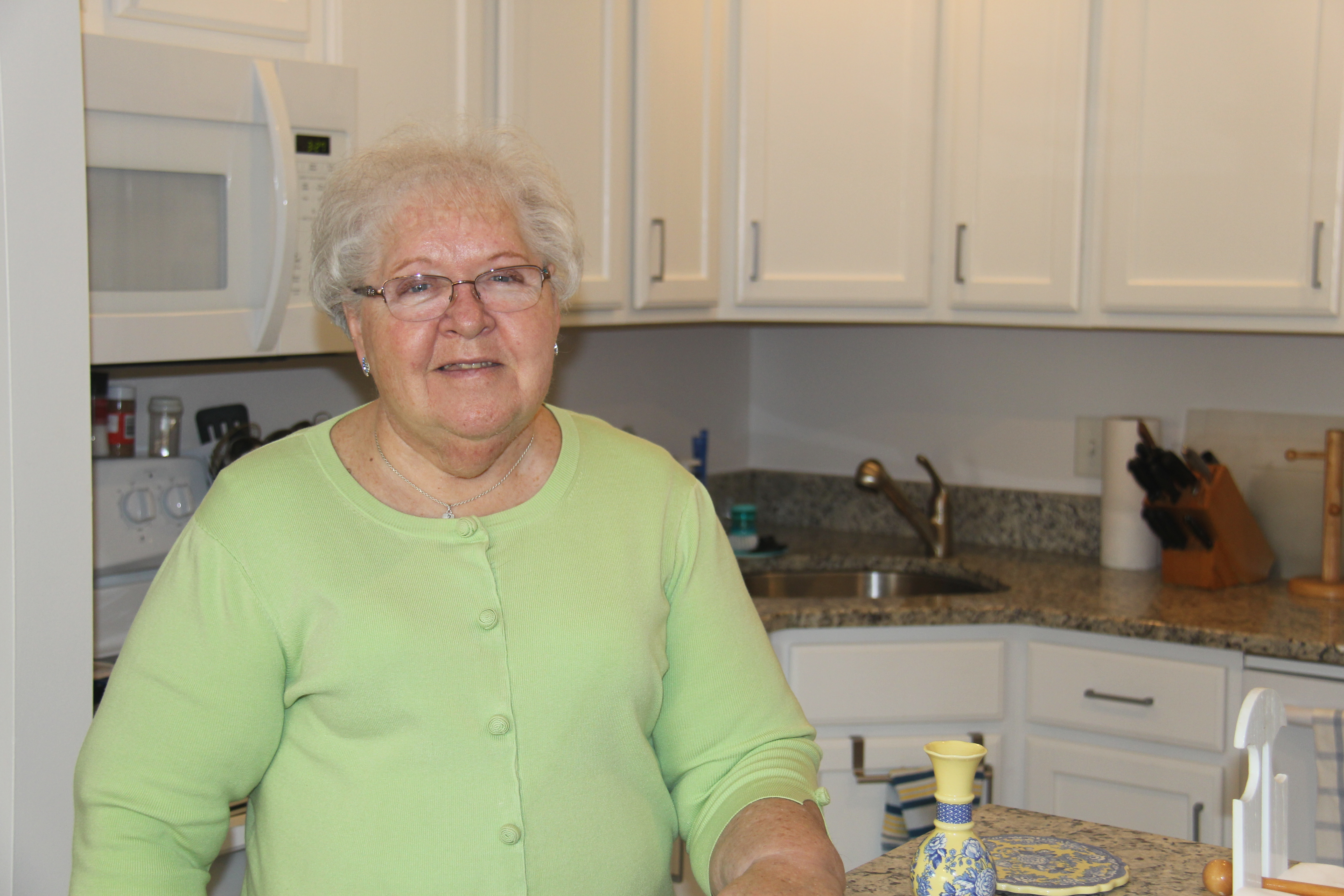 Photo caption: Margaret Raymond traded unanticipated home maintenance costs for predictable monthly expenses when she moved to Brooksby Village in December 2018.