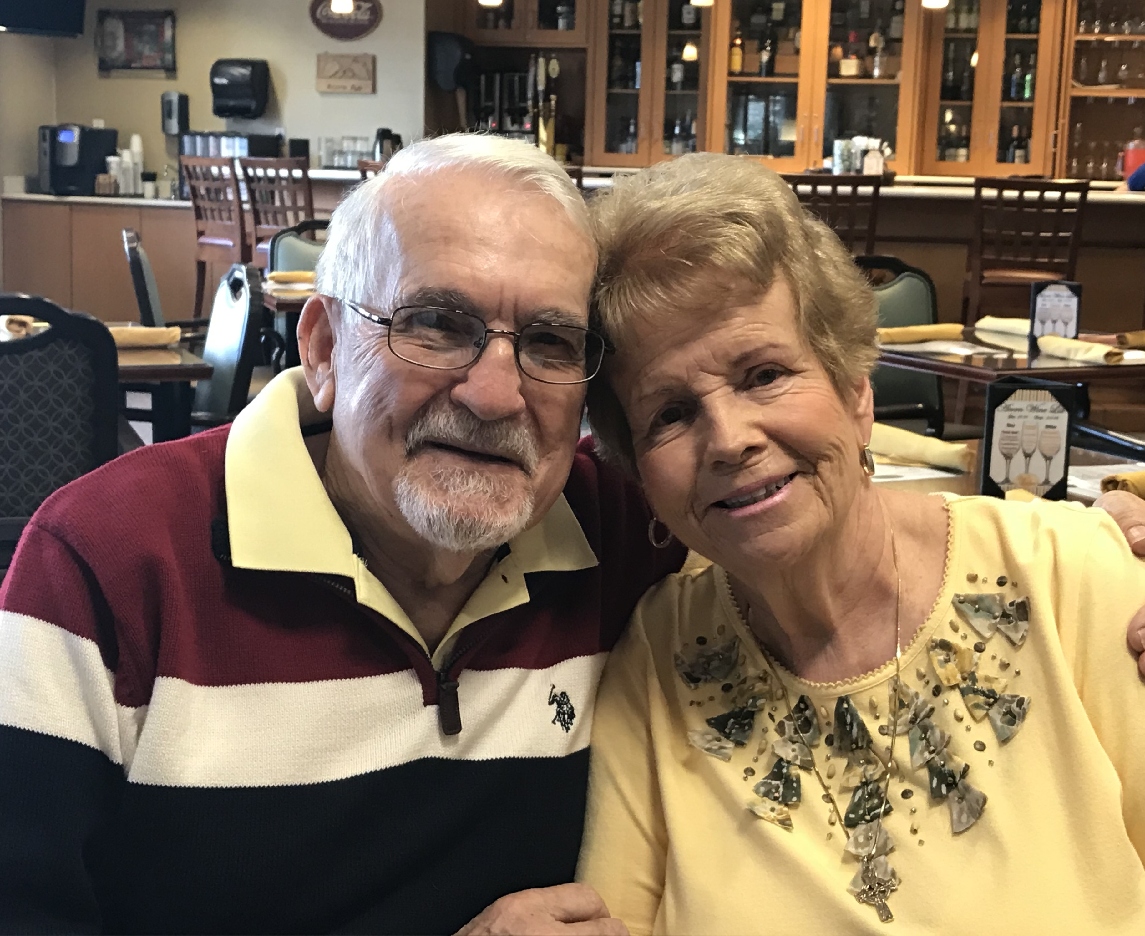 Oak Crest residents George and Kathy Wilson are pictured in the Acorn Pub.