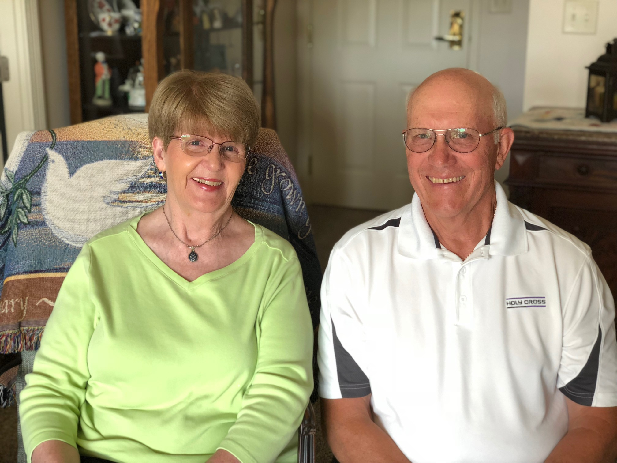 Bill and Susan Humberd in their home at Linden Ponds.