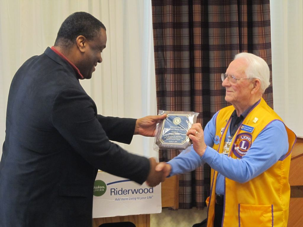 The Riderwood Lions Club was recognized for its community service during a volunteer appreciation luncheon held at the Erickson Living retirement community on Friday, February 13.