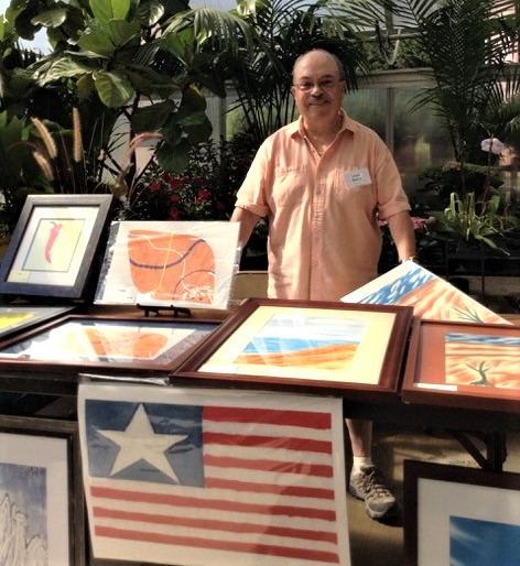 Seabrook Resident Lou Rivera displays digital artwork