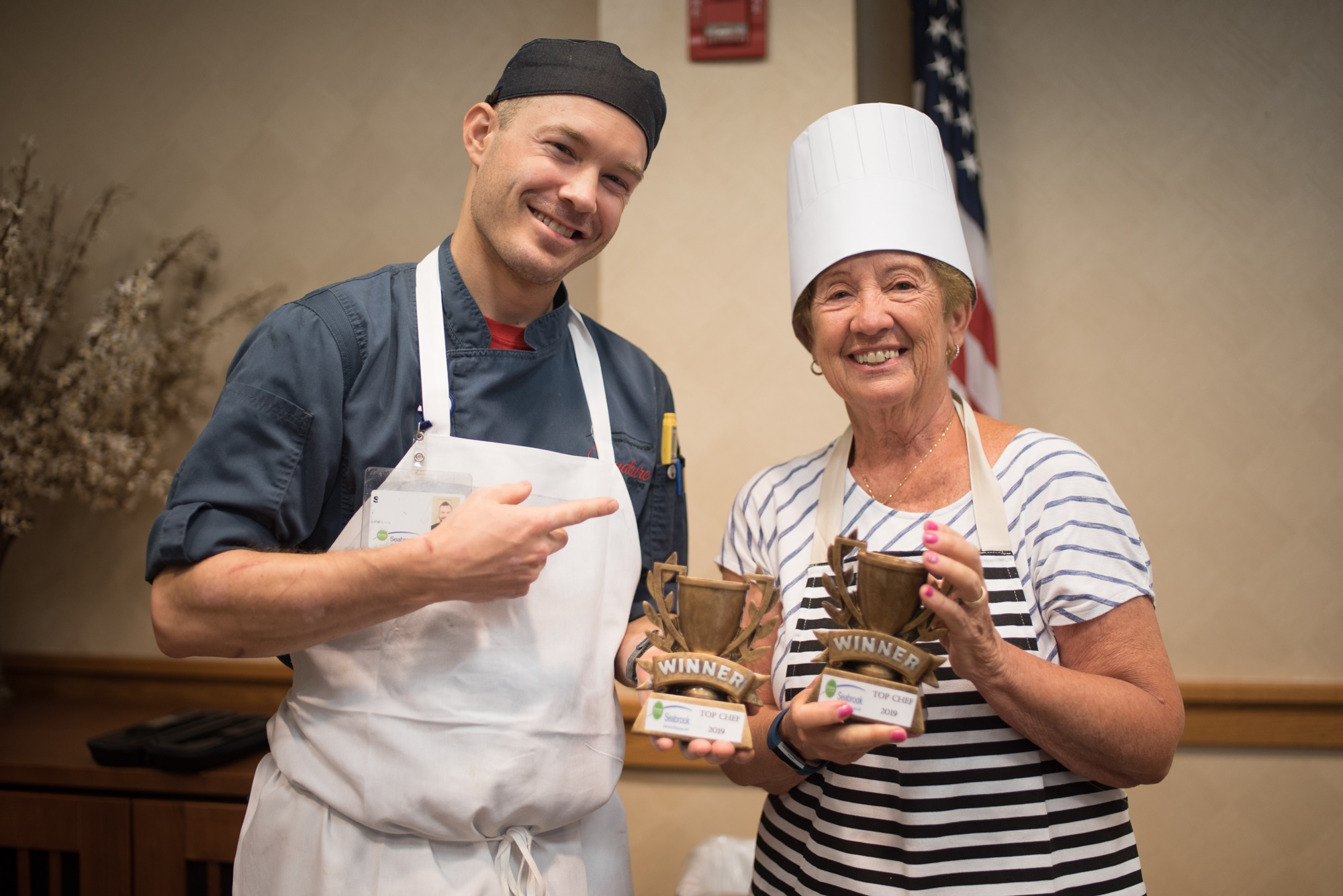 Seabrook Chef and resident hold Top Chef trophy