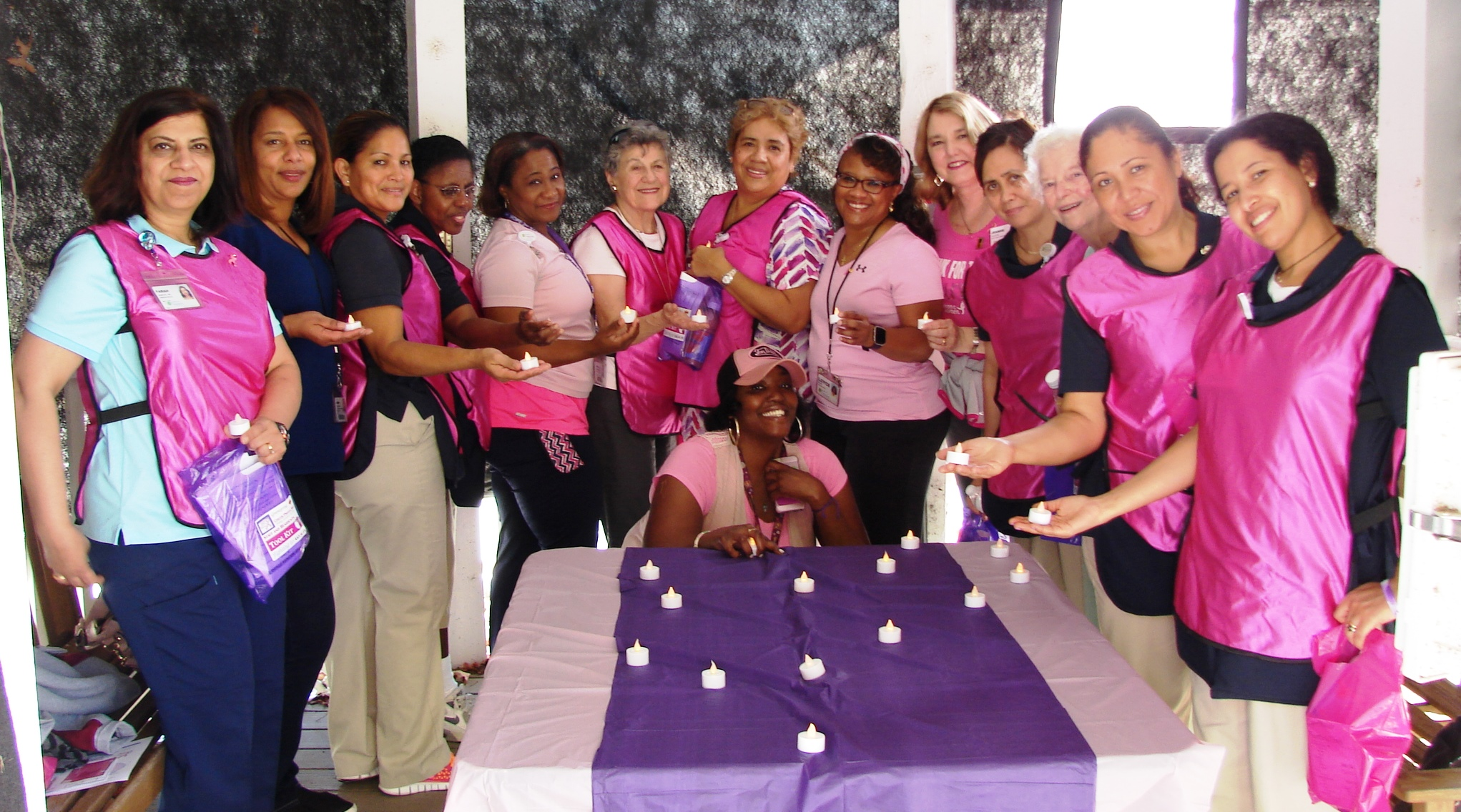 Just one of the many ways Greenspring cares for the overall wellness of its employees, the Erickson Living community hosts an Annual Cancer Prayer Walk during Breast Cancer Awareness Month. Participants light a candle in honor of a loved one who is fighti