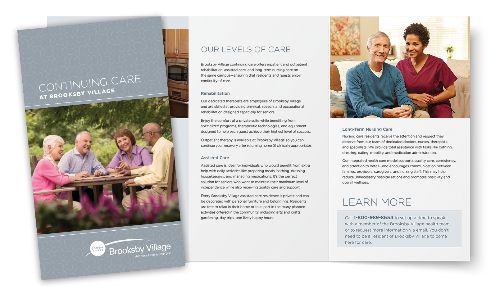 Brooksby Village Continuing Care brochure and spread